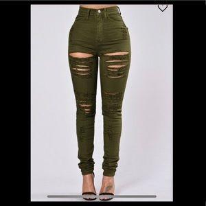 Roll Out Jeans - Olive fashion nova 3X